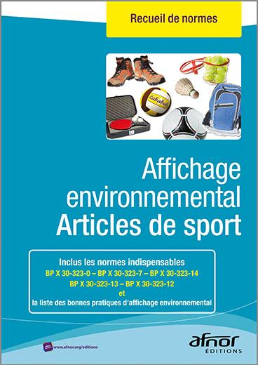 Affichage environnemental pour les articles de sport