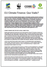 EU Climate Finance : Quo Vadis ?