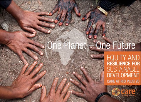 "CARE vient de publier un rapport en anglais intitulé ""One Planet – One Future : Equity and resilience for sustainable development"""