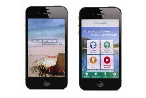 "Appli mobile ""Naturiste par Nature"""