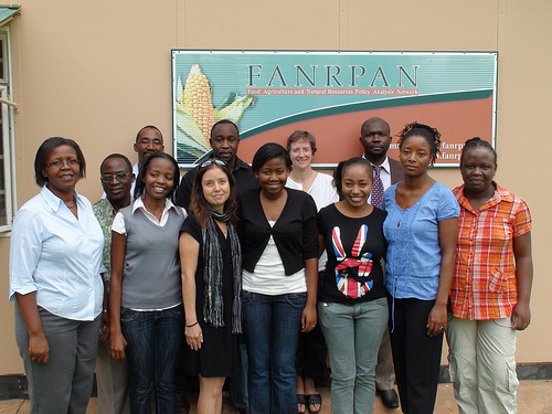 Danielle Nierenberg with the staff of FANRPAN in Pretoria, South Africa (Photo Credit : Bernard Pollack)