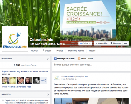 CDURABLE.info sur Facebook
